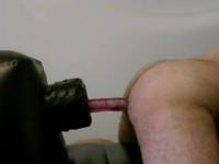 Culo gay sfondato da un vibratore